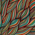 Vector hand-drawn waves texture, wavy background. Backdrop templ Royalty Free Stock Photo