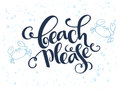 Vector hand lettering summer text about sea with doodle shells and bubbles