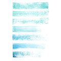 Vector hand painted blue and turquoise grunge brush strokes textures