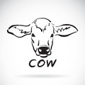 Vector of hand sketch a cow head. Royalty Free Stock Photo