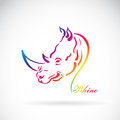Vector of hand sketch a rhino head on a white background. Royalty Free Stock Photo