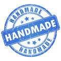 Vector handmade stamp on white Royalty Free Stock Photography