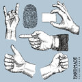 Vector hands set drawn illustration Stock Images