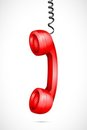 Vector Hanging Phone Receiver Royalty Free Stock Photo