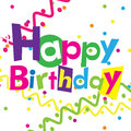 Vector happy birthday Royalty Free Stock Image