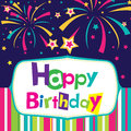 Vector happy birthday card Royalty Free Stock Photos