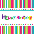 Vector happy birthday card Royalty Free Stock Photo