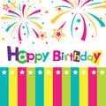 Vector happy birthday card Royalty Free Stock Images