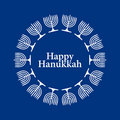 Vector Happy Hanukkah Background Stock Image