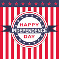 Vector Happy Independence Day background with stars and stripes.