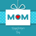 Vector Happy Mothers Day celebration card