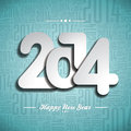 Vector happy new year celebration design on a typographic background Stock Photos