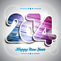 Vector happy new year colorful celebration background Stock Image