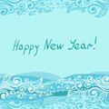 Vector happy new year this is file of eps format Royalty Free Stock Photo