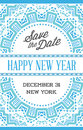 Vector Happy New Year or Merry Christmas theme Save the Date Inv Royalty Free Stock Photo