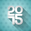 Vector happy new year typographic design on snowflakes background Stock Photos