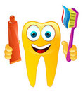 Vector happy smiling tooth Royalty Free Stock Photo