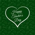 Vector Happy Teacher s Day inside green heart