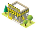Vector hardware store isometric shop building icon Stock Image