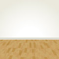 Vector hardwood floor and blank wall a illustration of a flooring eps Stock Photo