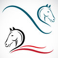 Vector head of horse on a white background Stock Photography