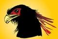 Vector head of phoenix