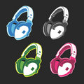 Vector headphones Royalty Free Stock Images