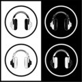 Vector headphones icons Stock Photography