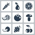 Vector health food icons set Stock Photography
