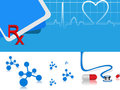 Vector heart beat medical background Stock Photography