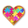 Vector heart big puzzle Royalty Free Stock Photography
