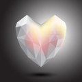 Vector heart crystal abstract icon, logo for your company. Royalty Free Stock Photo