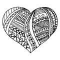 Vector heart. doodle design, valentine`s day decoration, prints, backgrounds