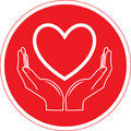 Vector heart and hands icon Royalty Free Stock Images