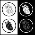 Vector heart icons Royalty Free Stock Photos