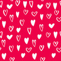 Vector heart icons seamless pattern background art for Valentine day Royalty Free Stock Photo
