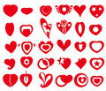 Vector heart icons symbols is a illustration Royalty Free Stock Image