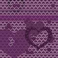 Vector heart pattern motive Royalty Free Stock Photos