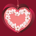 Vector heart for valentines day Royalty Free Stock Photos