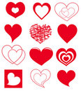 Vector hearts Stock Photo