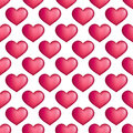 Vector hearts seamless pattern love simple cute repeating background Stock Images