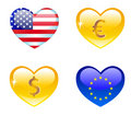 Vector hearts. Set 2. Royalty Free Stock Image