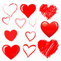 Vector hearts set this is file of eps format Stock Photography