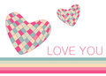 Vector hearts for wedding and valentine design Royalty Free Stock Image