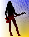 Vector heavy metal guitarist Royalty Free Stock Photography