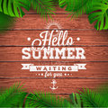 Vector Hello Summer Typographi...