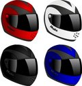 Vector helmets Royalty Free Stock Photo