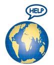 Vector help earth Royalty Free Stock Photo