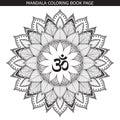 Vector henna tattoo mandala.OM decorative symbol.