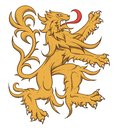 Heraldic lion rampant